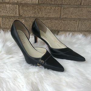 Ralph Lauren black leather pumps